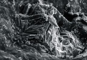 Mortero gris bajo enlucido arcilloso esmectítico