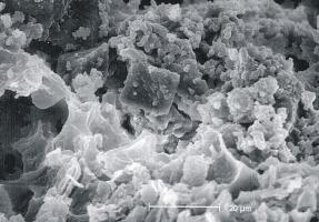 Morteros grises afectados por la corrosión